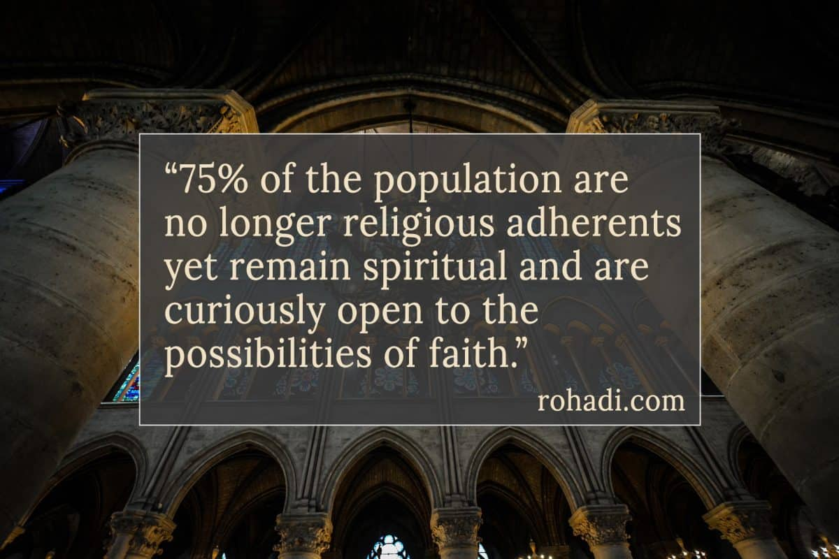 Shout Increase! Why Declining Religious Affiliation is an Opportunity for the Church